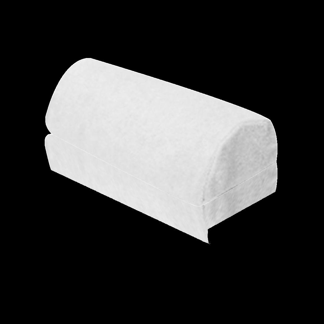 Bezug für Nackenrolle Tropfenform, weiß (zu Art.-Nr. 22939)