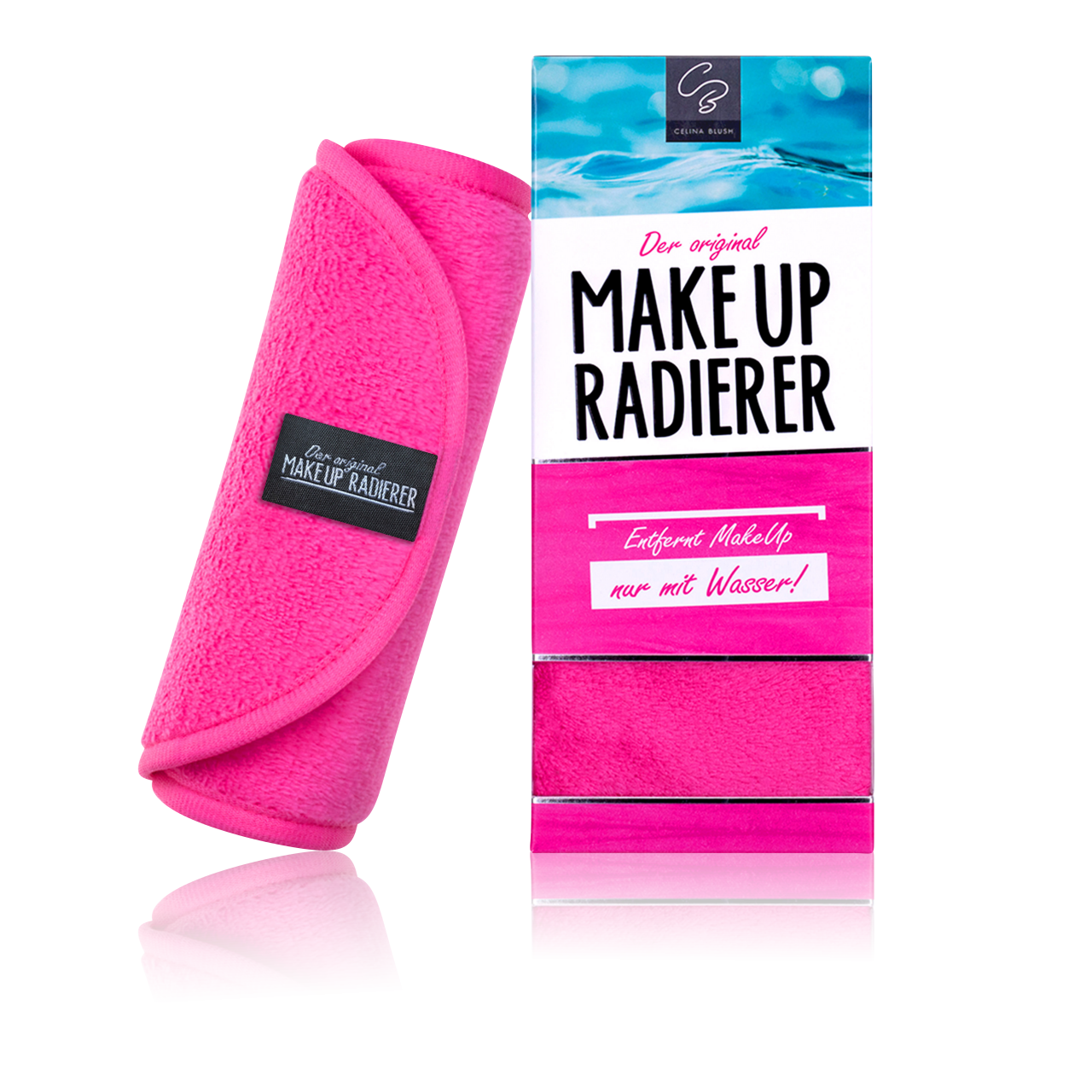 MakeUp Radierer Tuch pink 38x18cm