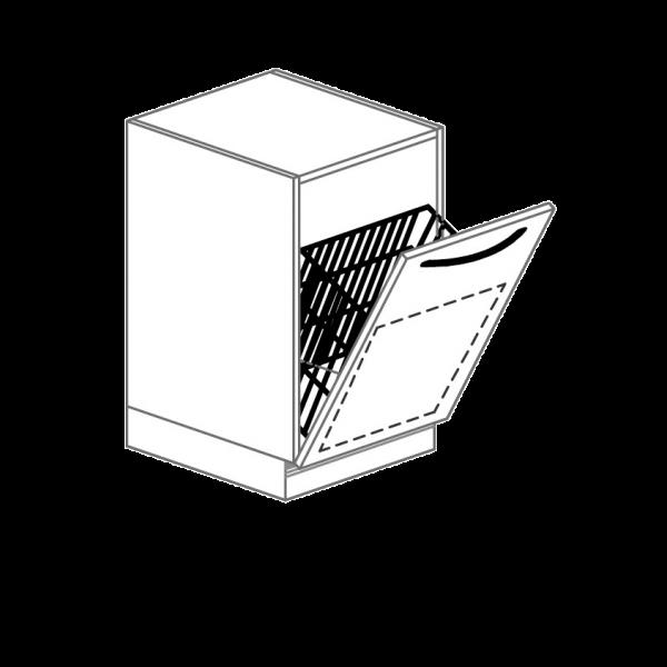 Unterschrank mit Wäschekorb für Hygienezeile, Breite 50 cm
