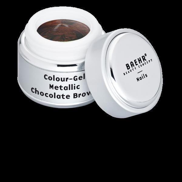 BAEHR BEAUTY CONCEPT NAILS Colour-Gel Metallic Chocolate Brown 5 ml