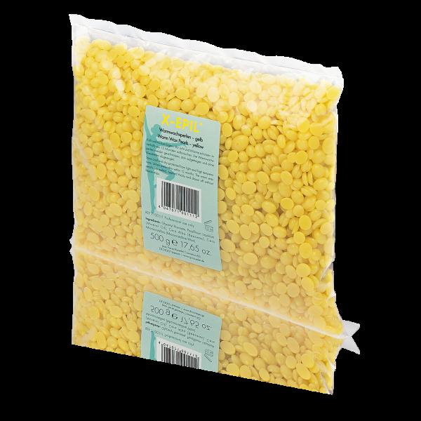 Warmwachs-Perlen gelb, Beutel 500 g