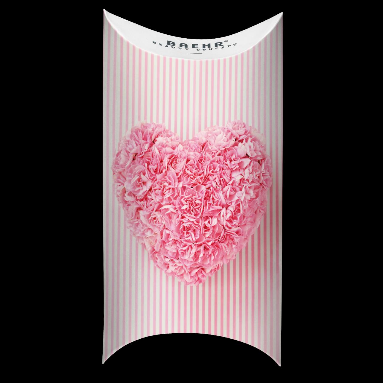 Geschenkverpackung Herz rosa