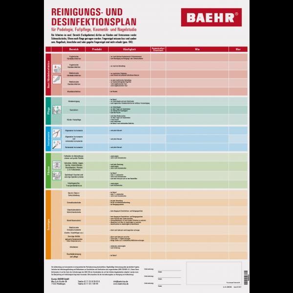BAEHR Desinfektionsplan Fußpflege