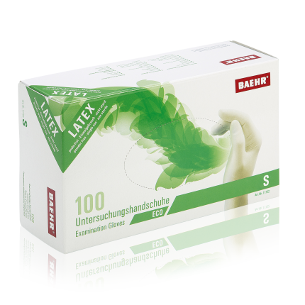 Handschuhe Latex ECO II Größe S 1 Pack (100 Stk.)