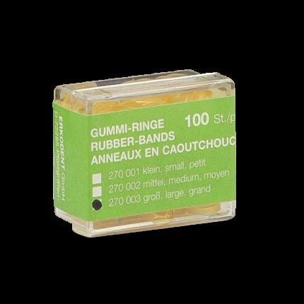 Latex-Gummiringe 6,35 mm 100 St.