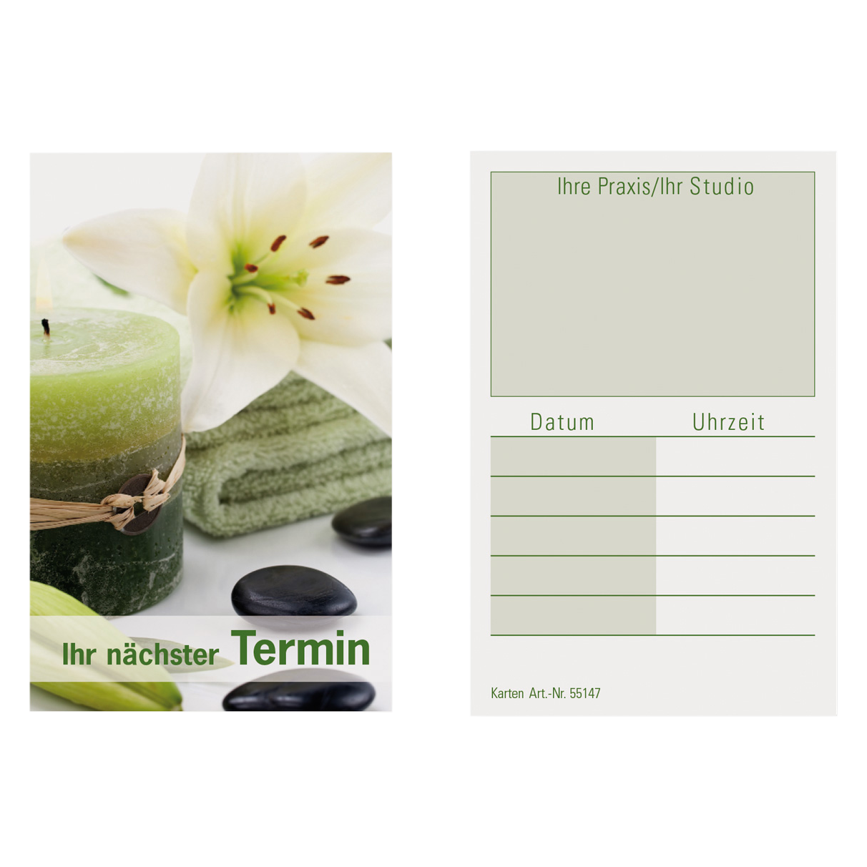 Terminkarten WELLNESS 1 1 Block (100 Blatt)