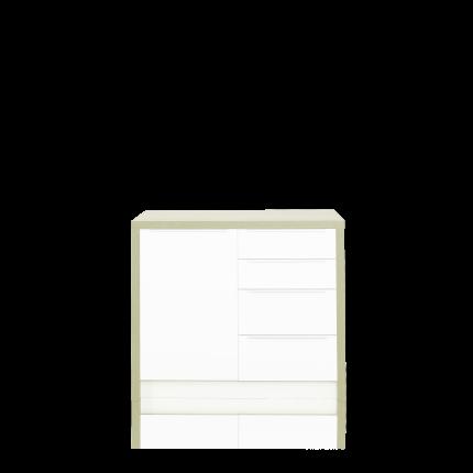 Rahmen 108 für 2 Unterschränke zu Sideboard, Farbe oak light