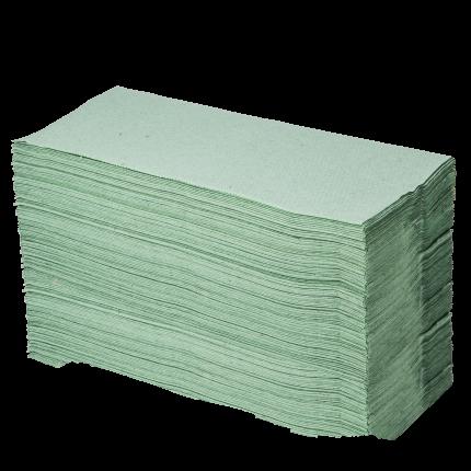 Papier-Falthandtücher grün 1 Pack (250 Stk.)