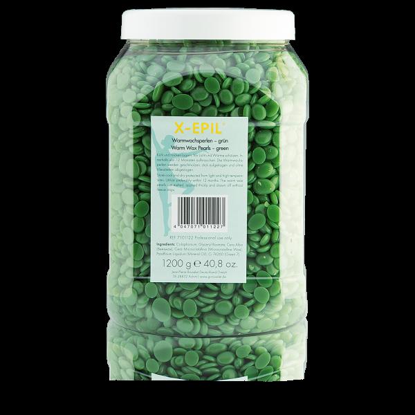 Warmwachs-Perlen grün, Dose 1.200 g