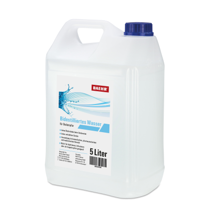 Bidestilliertes Wasser, 5.000 ml, UN Kanister 5000 ml