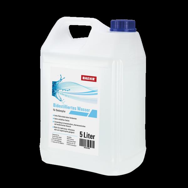 BAEHR Bidestilliertes Wasser, 5.000 ml, UN Kanister 5000 ml