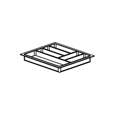 Schubladeneinsatz für Hygienezeile 50 cm