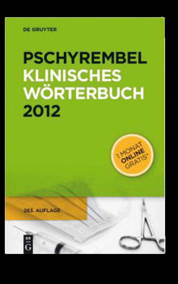 Pschyrembel, klinisches Wörterbuch 2012 2354 Seiten