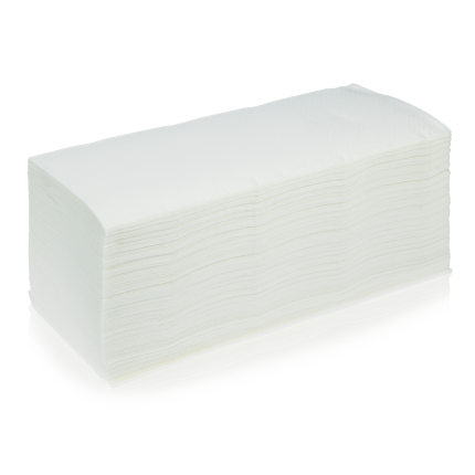 Papier-Falthandtücher weiß 1 Pack (200 Stk.)