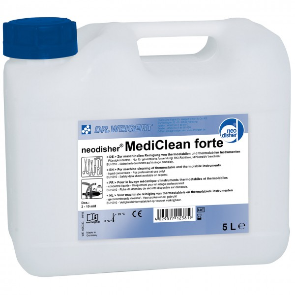 Steelco MediClean forte Reiniger 5 l