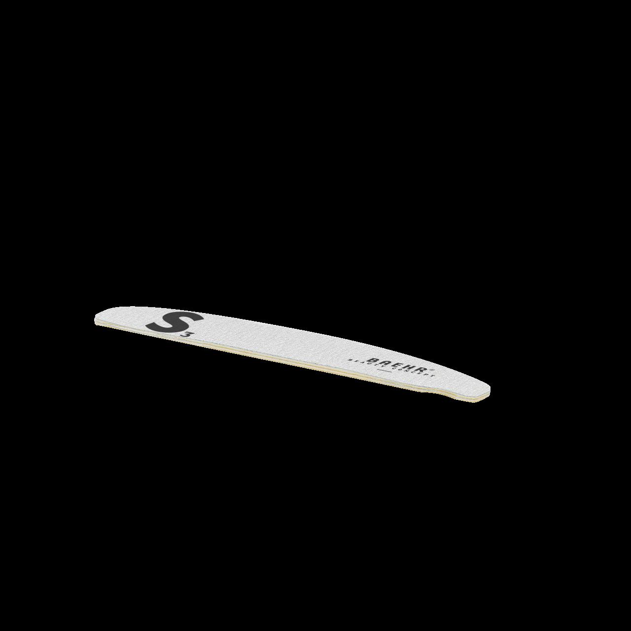 Feilblätter zu Kunststoff-Bowfeile (20 Stück), Körnung 180, Modell: S 3