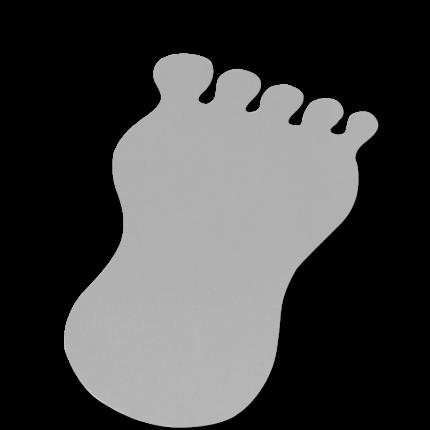 Fußmatten in Fußform-grau