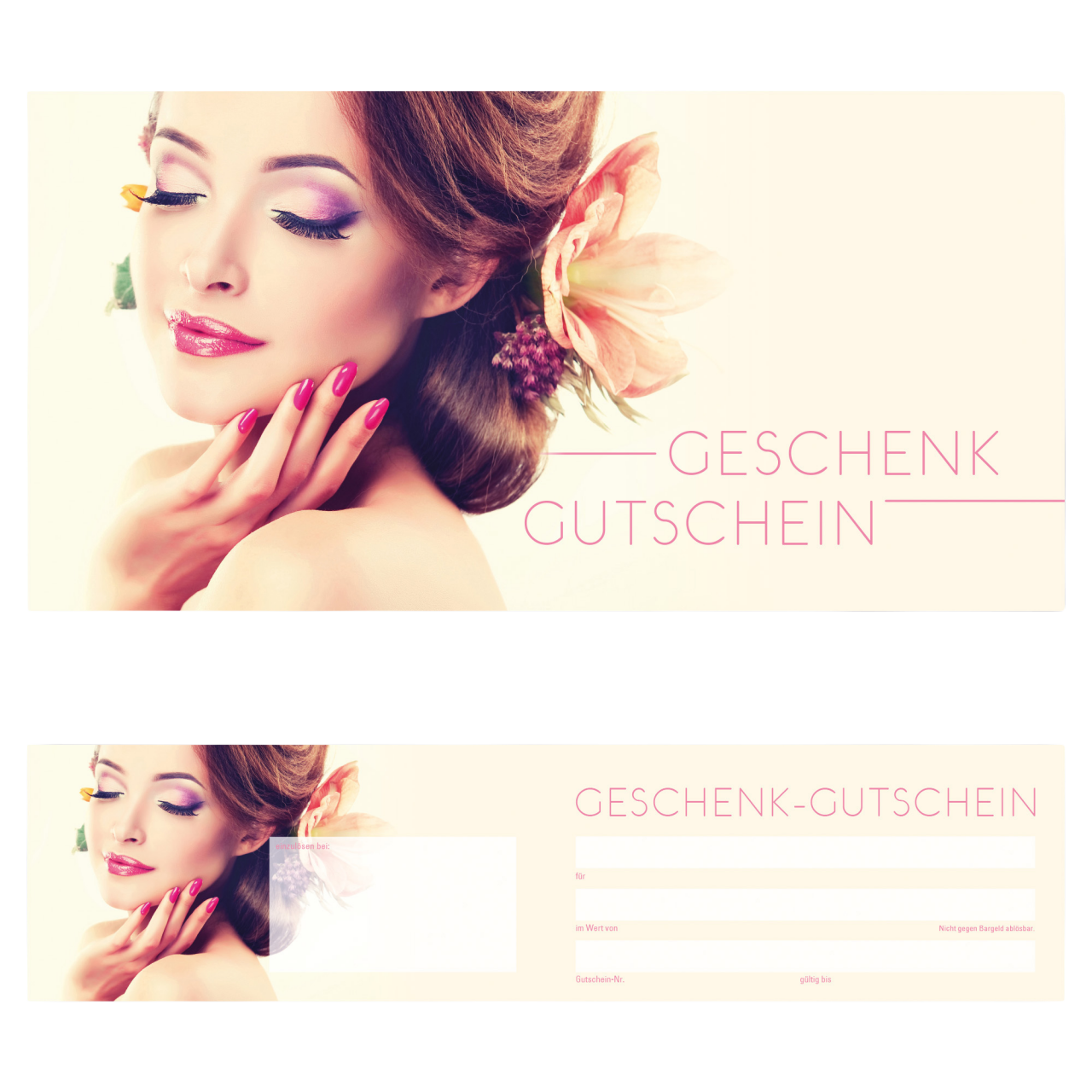 Geschenk-Gutschein Nails Frühling, 25 Stk. inkl. Kurverts pro Packung