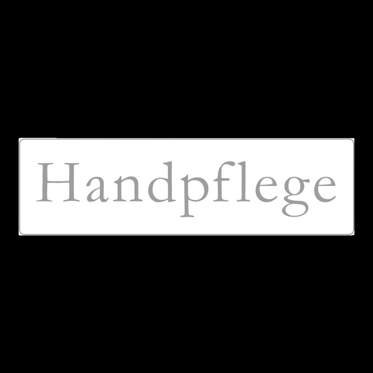 Hinweisschild Handpflege 35 x 10 cm rechteckig
