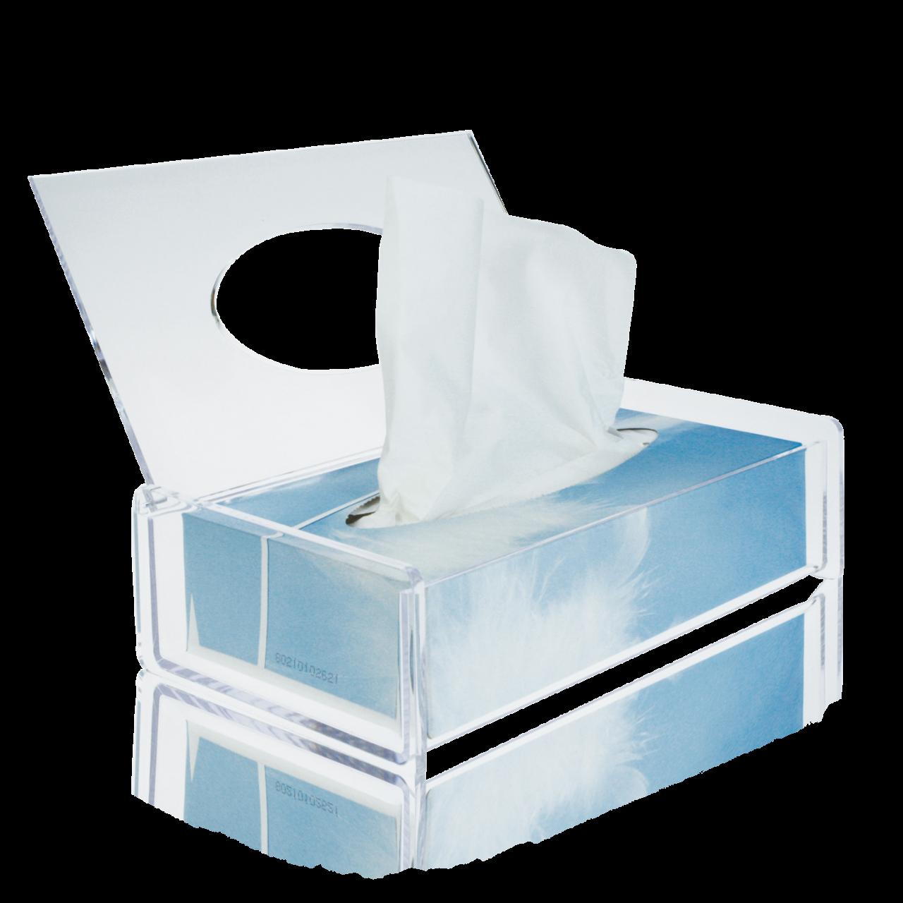 Box für Kosmetiktücher, transparent 25 x 13 x 6 cm