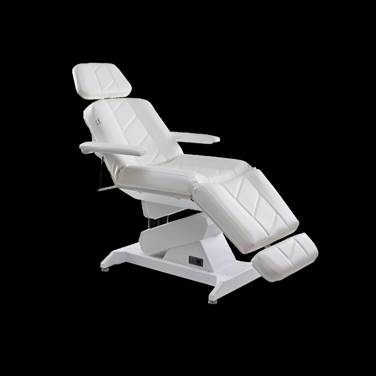 Kosmetikliege DIAMANT, weiß, 3 Motoren Heizung, Sockel in weiß