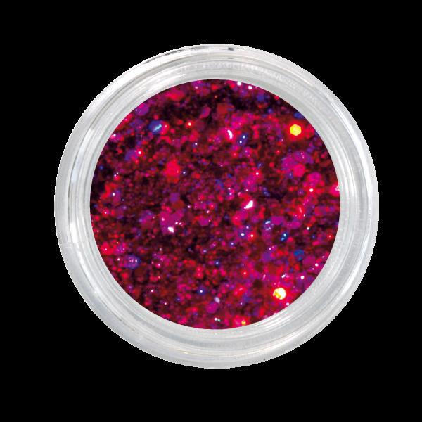 Nailglitter Mini Sechseck fuchsia
