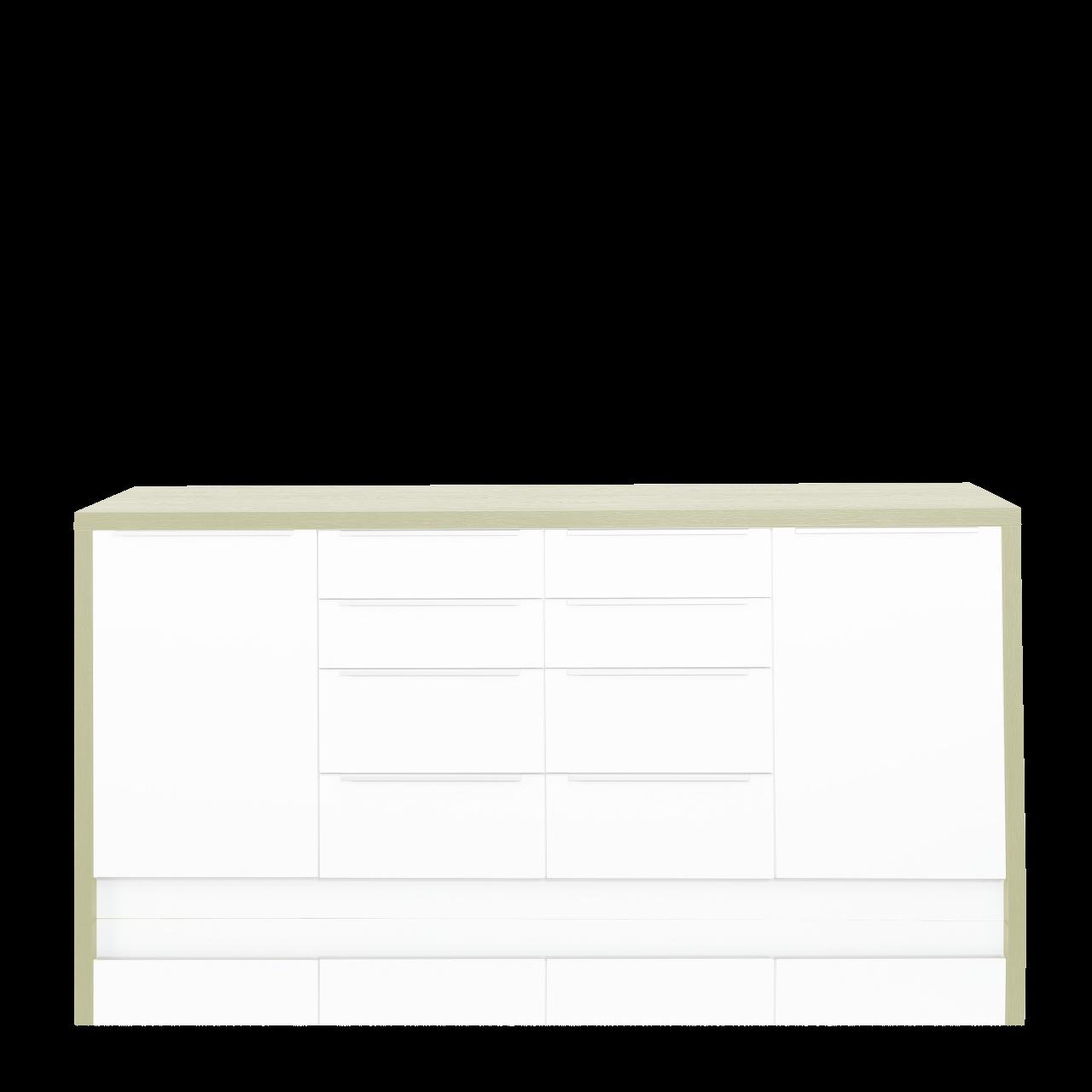 Rahmen 208 für 4 Unterschränke, zu Sideboard, Farbe oak light