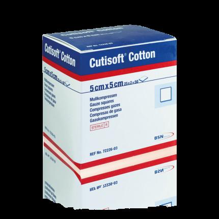 Cutisoft Cotton sterile Kompresse 1 Pack (50 Stk.)