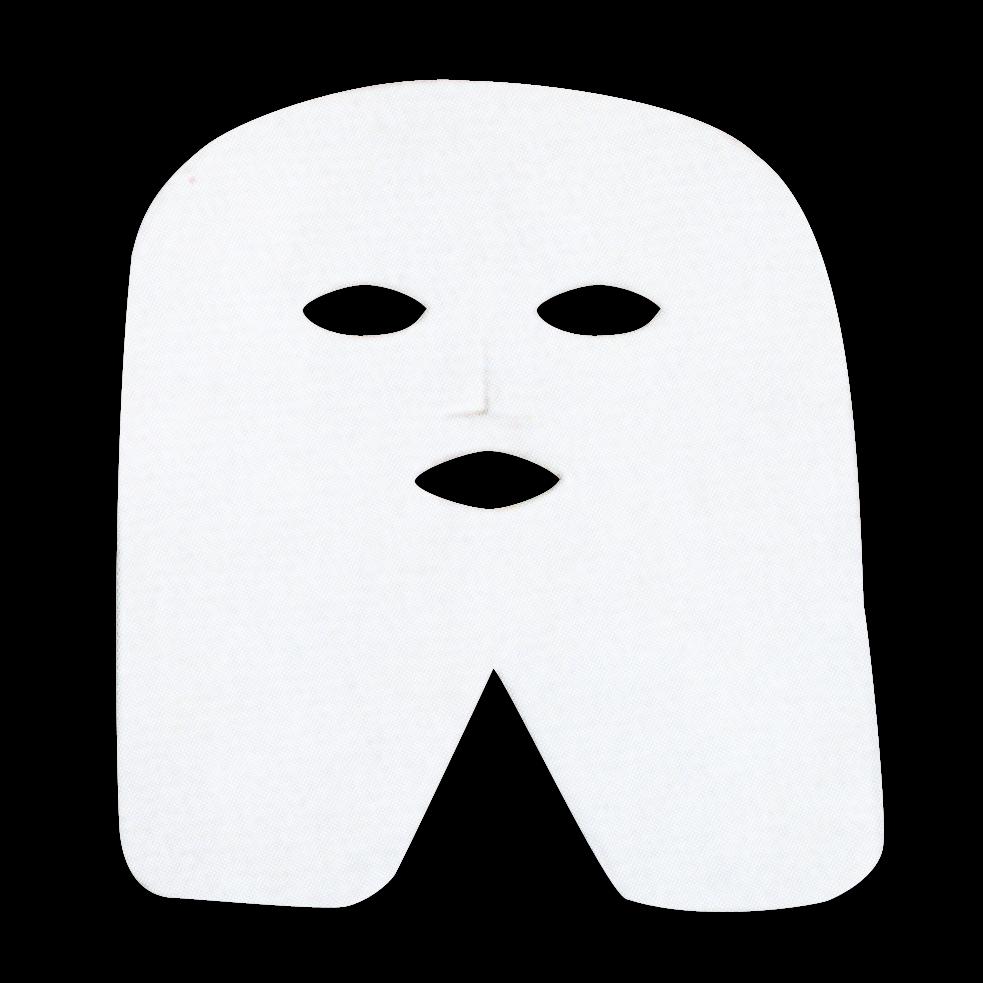 Vliesmasken Gesicht 1 Pack (100 Stk.)