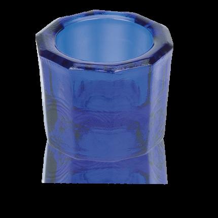 Dappenglas blau