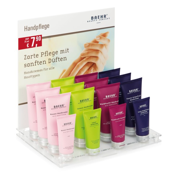BAEHR BEAUTY CONCEPT - Handcreme-Set im Acryldisplay