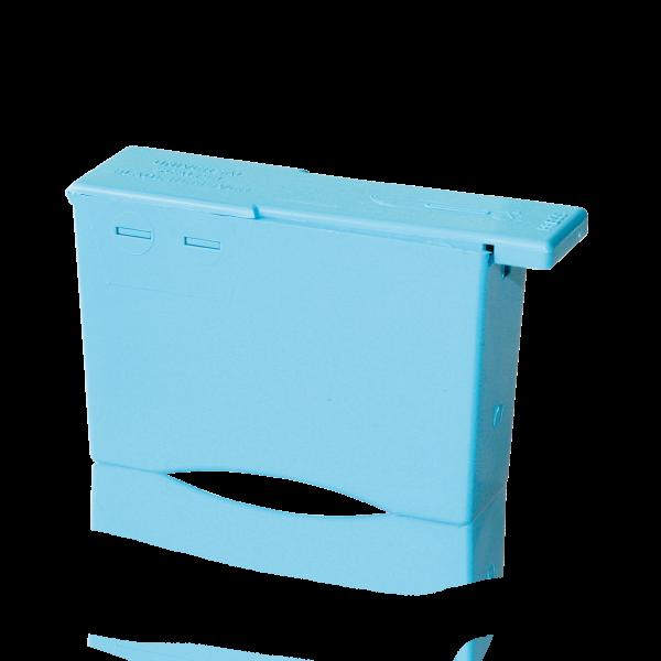 Entsorgungsbehälter für Klingen, blau
