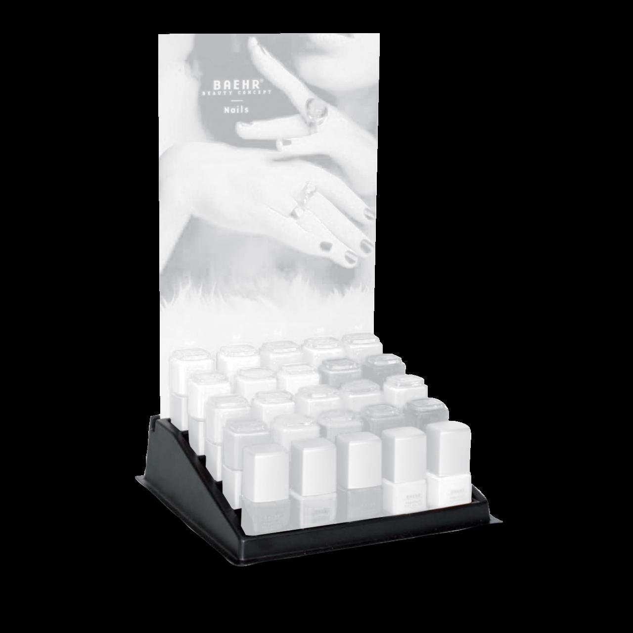 Nagellack-Display leer, schwarz