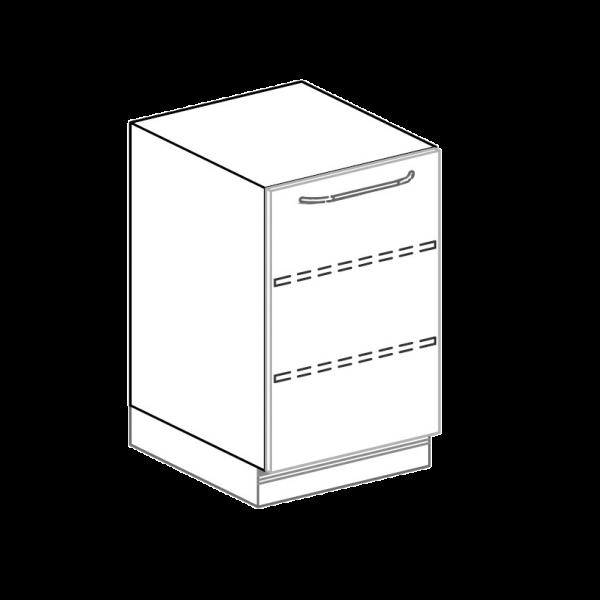 Türenschrank für Hygienezeile Breite 50 cm