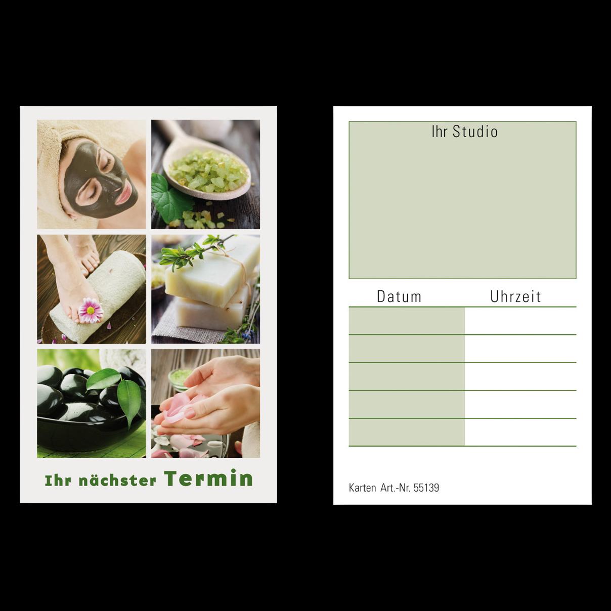 Terminkarten WELLNESS 1 Block (100 Blatt)