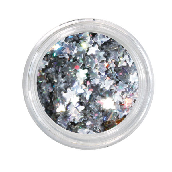 Nailglitter Stars silver