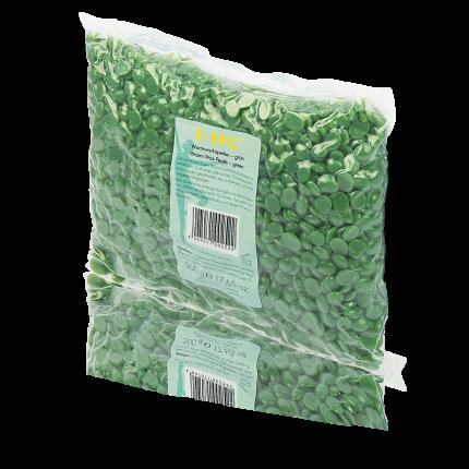 Warmwachs-Perlen grün, Beutel 500 g