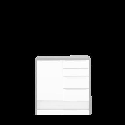 Rahmen 108 für 2 Unterschränke zu Sideboard, Farbe beton natur