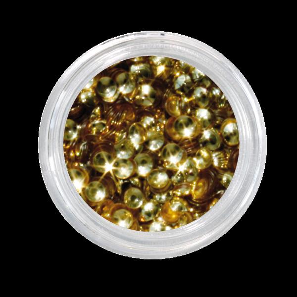 Nailglitter Pailletten Halbkugel gold