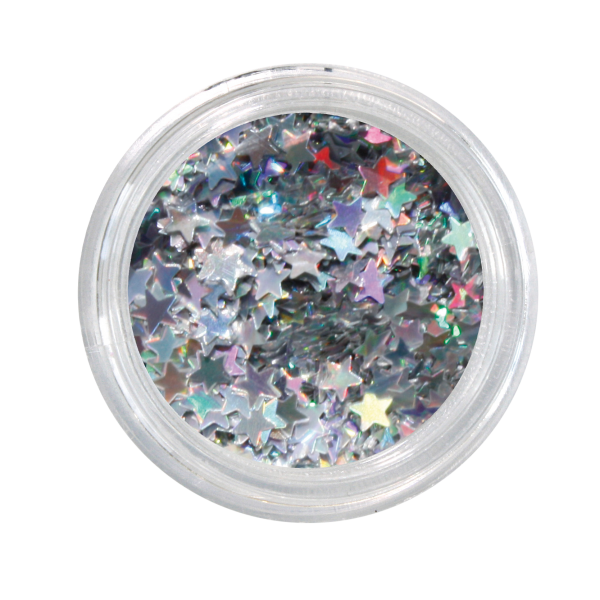 Nailglitter Stars effekt silver