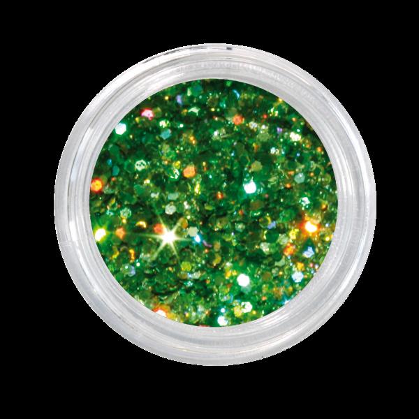 Nailglitter Mini Sechseck green