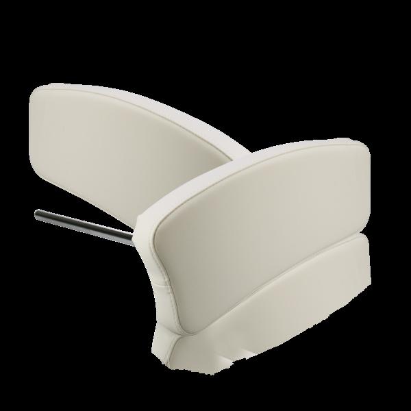 BAEHR Armlehnen-Paar für Wellnessliege weiß inklusive Aufnahme und 4 Handräder
