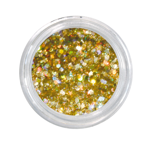 Nailglitter Mini Sechseck gold