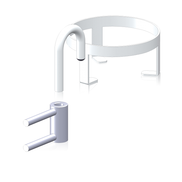 BAEHR Becherhalter 125mm, RAL9010 (weiß)