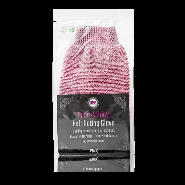 Face & Body Peeling Handschuh pink