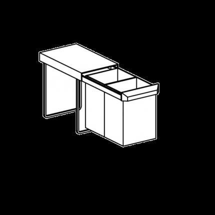 Einbau-Abfallbehälter für Hygienezeile
