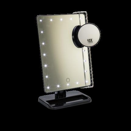 Stellspiegel mit 20 LED-Leuchten dimmbar