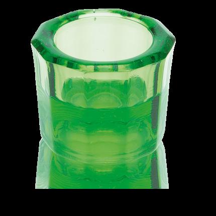 Dappenglas grün