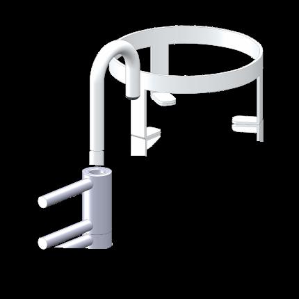 Becherhalter 125mm, RAL9010 (weiß)