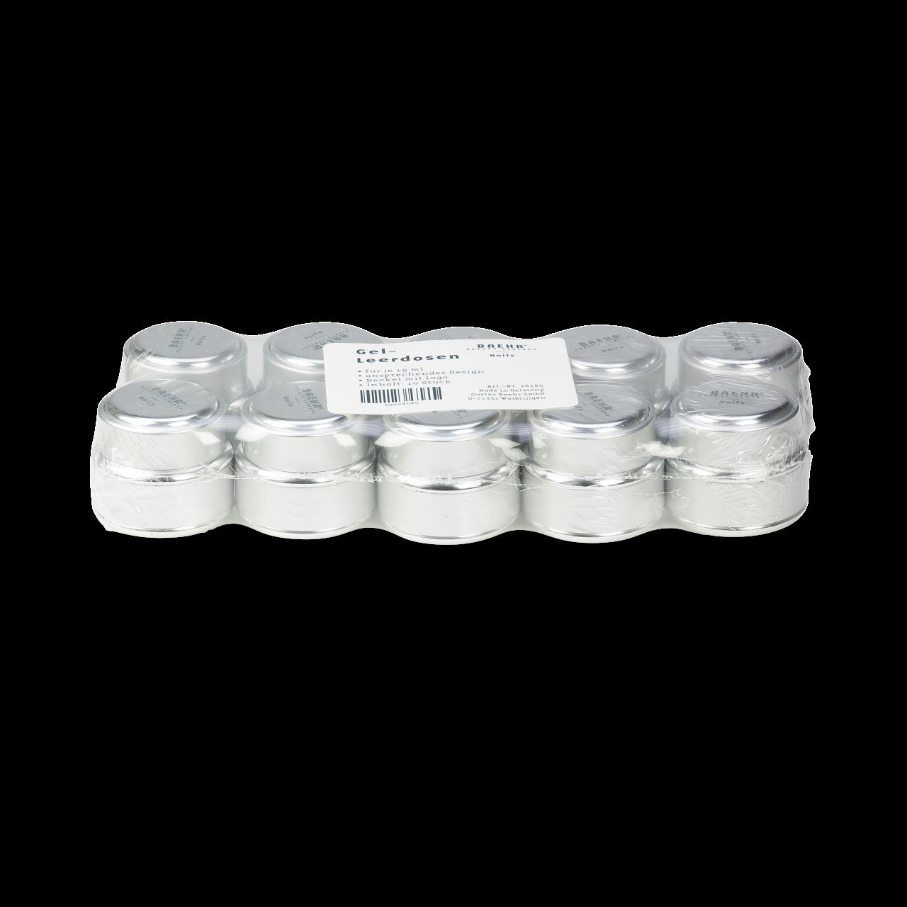 Gel-Leerdosen für 15 ml 1 Pack (10 Stk.)
